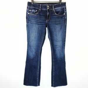 American Eagle Artist Jeans Flap Pocket Raw Hem 6